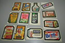 LOT OF 13 VINTAGE ORIGINAL WACKY PACKAGES TOPPS STICKERS LOOK !!!