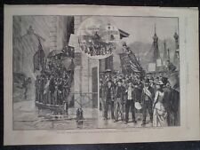 Steel Workers Strike Pittsburgh Pennsylvania  Harper's Weekly Print 1882 #2