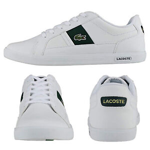 Lacoste Mens  Europa Smooth Leather Trainers Sport Tennis Lace Up Casual Shoes