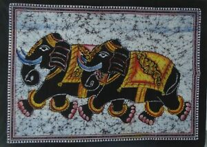 Batik Multi Color WALL HANGING THROW POSTER Bohemian Ethnic Elephant Tapestry