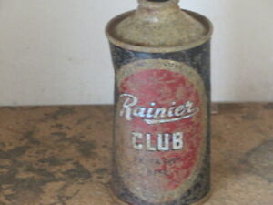 RAINIER. CLUB.  BEER. SOLID. IRTP. CONE TOP