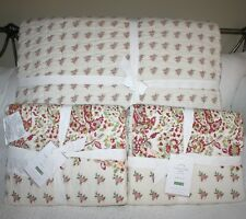 POTTERY BARN LIVIAH REVERSIBLE PRINT QUILT& SHAMS - KING/CAL.KING