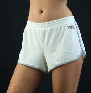 Victoria's Secret PINK Lightweight Lounge Sleep Shorts Pocket Striped NWT
