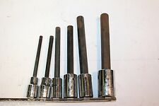 """ARMSTRONG 1/2"""" Drive Extra Long Hex Driver Socket SET 7pc USA"""