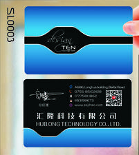 Customized 200x PVC Plastic Business name card 2 side Full Color printing design