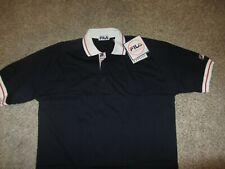 NWT NEW FILA Heritage Short Sleeve 100% Cotton Polo Shirt Tennis Bjorn Borg L Lg