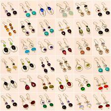 "400GRAM ! Opalite Multi-Gemstone Silver Plated Handmade Earring 2"" 36 PCS LOTS"