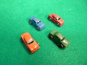"""Vintage Lot of 4 Barclay *METAL/DIE-CAST CARS* 1.25"""""""