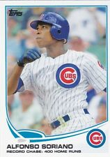 CHICAGO CUBS ALFONSO SORIANO 2013 TOPPS RECORD CHASE: 400 HOME RUNS #567