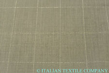 SE3 DELUXE SUPER 150's PURE WOOL LIGHT GREY CHECK MADE IN ITALY 68CM X 160CM