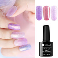 UR SUGAR 7.5ml Glitter Soak Off Gel Polish Glänzend Pulver Nagel Gel Varnish
