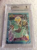1995 Topps Finest #84 Reggie White BGS 9 Mint Original Green Bay Packers