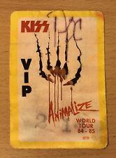 1985 KISS ANIMALIZE TOUR PORTLAND OREGON CONCERT VIP PASS QUEENSRYCHE LOVE GUN