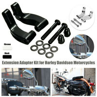 Motorcycle Mirrors Relocation Extension Adapter Aluminum Kit For Harley Davidson