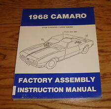 1968 Chevrolet Camaro Factory Assembly Manual 68 Chevy