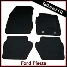 Ford Fiesta Mk6 2008 onwards Fully Tailored Fitted Carpet Car Mats BLACK