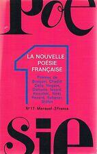 LA NOUVELLE POESIE FRANCAISE n°17