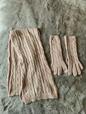Ralph Lauren Ladies Baby Pink Scarf & Glove Set