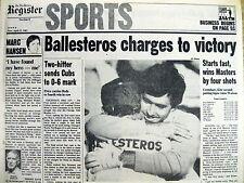 Best 1983 newspaper Spain 's SEVE BALLESTEROS wins 2nd MASTERS GOLF CHAMPIONSHIP