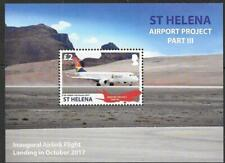 ST.HELENA 2018 AIRPORT PROJECT PART 3 M/SHEET MNH