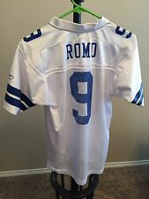 Tony Romo Dallas Cowboys Jersey, Youth Large, Revoked On Field, White