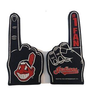 """Cleveland Indians # 1 fan  Foam  Finger, hand MLB BP 2016 18"""" both side printed3"""