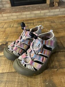 KEEN size 11 toddler pink and gray waterproof sport sandals, adj. strap Ex.