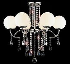 XL Glas Kristall Kronleuchter Deckenleuchte Lüster Leuchte Ø 65cm Deckenlampe