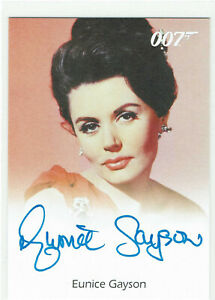 James Bond Archives 2009 Autograph Card Eunice Gayson as Sylvia Trench in Dr. No