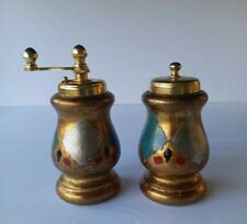 Florentine Pepper Mill 7\u201d Tall Gilt /& Painted Vintage Painted Wooden Mill Vintage .epsteam