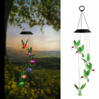 LED Solar Hummingbird Wind Chime Light Color Changing Yard Garden Decor Gifts US