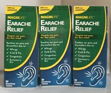 New 3 Pk MagniLife Earache Relief Targets Ear Pain for Fast Relief 90 tablets