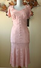 Stop Staring Easter Victorian Pink Lace USA Made Mermaid Wiggle Dress S One Kind