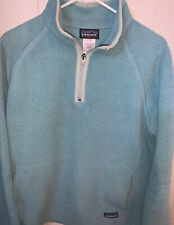 Patagonia Womens Large Synchilla Fleece Teal With Pouch Excellent Condition B7