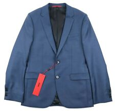 NWT HUGO BOSS RED LABEL Astian Hets Blue Woven Wool 2Btn Flat Front Suit 36 R