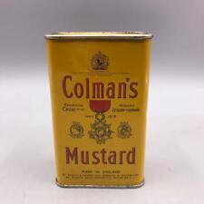 Vintage Colman's Mustard Tin Bulls Head - Made in England Packaging Design