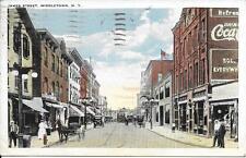 James Street Scene MIddletown NY Handsome Vintage postcard postally used in 1922