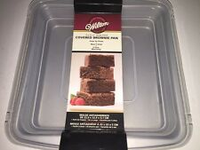 """WILTON 9""""x9""""x2"""" Square Non-Stick Covered Brownie Pan Bakeware Easy to Clean NEW"""