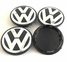 4pcs 65mm VW Wheel Rim Center Cap Golf Polo Jetta Mk4 Mk5 Touareg PASSAT B5 B6