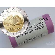 """Rouleau 25 x 2 euros commémoratives Malte 2016 """"Love"""" - 350 000 exemplaires"""