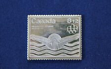 1976 Canada Post 8+2 Montreal Stamp Fractional .999 Silver Art Bar P0031