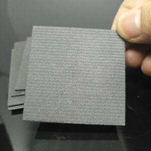 5pcs 99.99% Pure Graphite Electrode Rectangle Plate Sheet 50*50*2mm F electrode