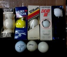 18 Golf balls, and Green rug for Christmas tree, or putting golf