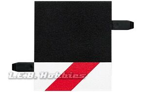 Carrera Outside Shoulder for 1/4 straight slot car track, 2/pk 20589