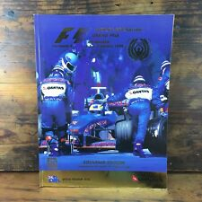 1999 MELBOURNE FORMULA 1 GRAND PRIX OFFICIAL PROGRAM F1 AUSTRALIAN FIA FWC #2