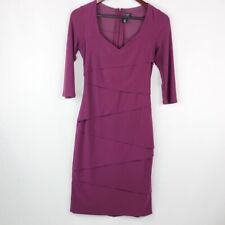 White House Black Market Purple Slimming Dress