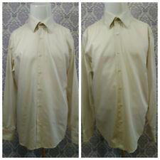 HUGO BOSS Mens Dress Shirts Lot Of 2 SZ 42 16.5 Finest Italian Fabric Off White