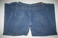 LL Bean Flannel Lined Relaxed Blue Jean Women 14 NEW