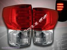 2007-2012 TOYOTA TUNDRA LED TAIL LIGHTS RED CLEAR G2 LH+RH BRAKE LAMPS