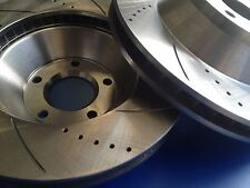 Holden HSV Clubsport VT VY VZ 4 Piston Drilled & Slotted Front Disc Rotors 343mm